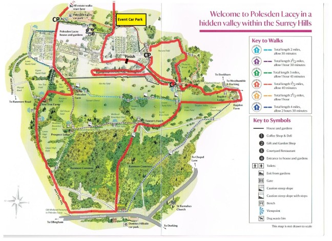 Polesden_Route_Map_Cheering_Points