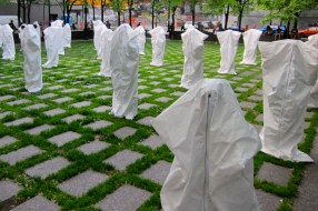 Installation outside Monument-National in Montreal