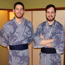 AWB and CSB at the ryokan in Arashiyama