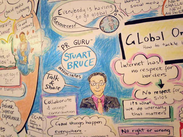 Stuart Bruce PR conference speaker graphic