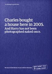 Charles bought a house here in 2005. And Harry has not been photgraphed naked once.
