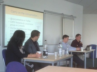 CIPR Share This Too social media panel at Leeds Business Week