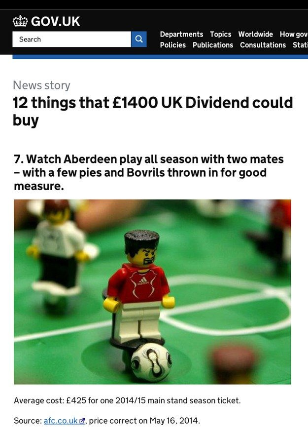 7 Watch Aberdeen play all season with two mates - with a few pies and Bovrils thrown in for good measure.