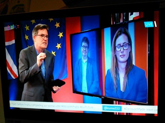 Stuart Bruce on MadeIn TV national TV debate photo