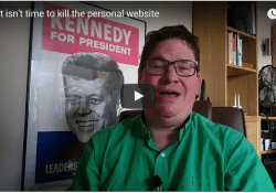 Why it isn't time to kill the personal website video grab