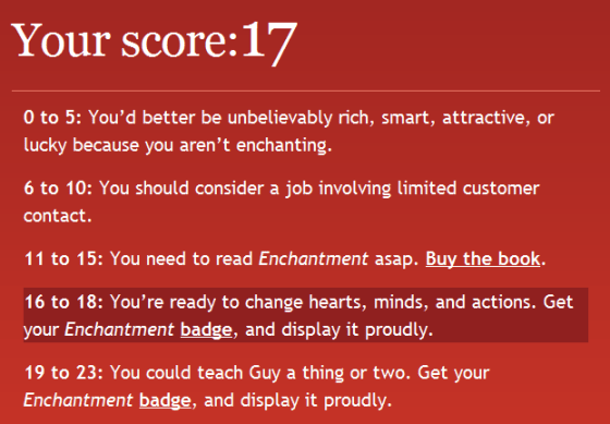 Stuart Bruce Enchantment quiz score