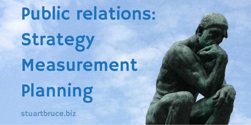 Public Relations Strategy Measurement Planning The Thinker photo