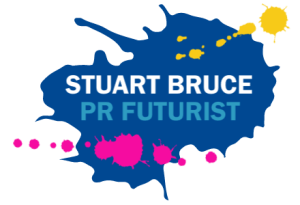 Stuart Bruce PR Futurist logo