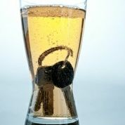 beer glass with keys