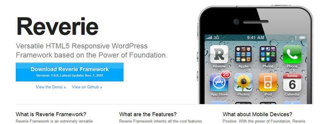 Reverie Responsive Wordpress Theme Framework