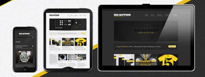 Reaction WP Responsive WordPress Business / Corporate Theme