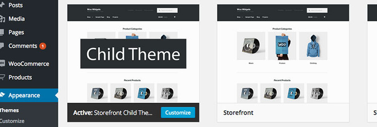 Storefront Blank Child Theme For WooCommerce