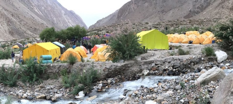 Our first camp of the trek.