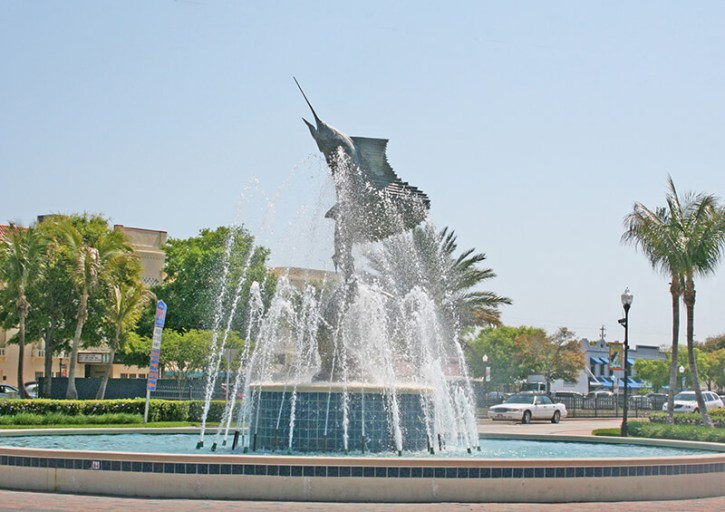 Martin County - Sailfish fountain