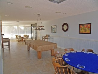 Game room in the Suntide Condo on Hutchinson Island