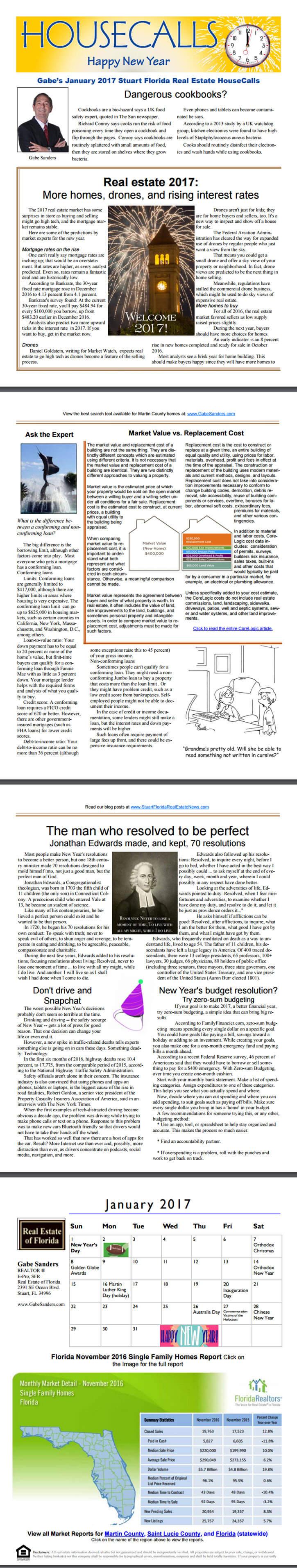 Gabes January 2017 HouseCalls Newsletter