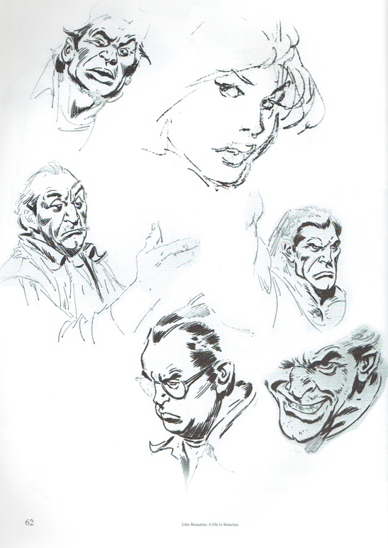 Sketchbooks John Buscema A Life In Sketches
