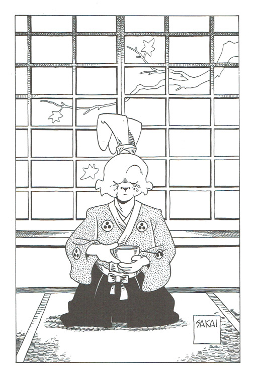 Sketchbooks Usagi Yojimbo Coloring Book Signed By The Artist With A Drawing