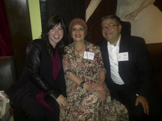 Meeting up with Jamie Geller & Levana Kirschenbaum. Two authors I have enjoyed working with.