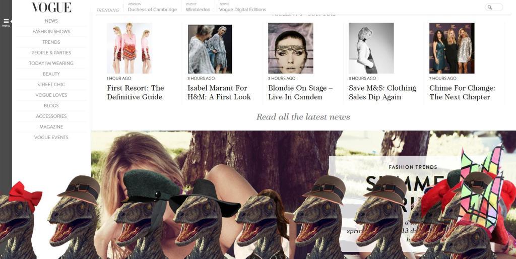 Vogue Screenshot