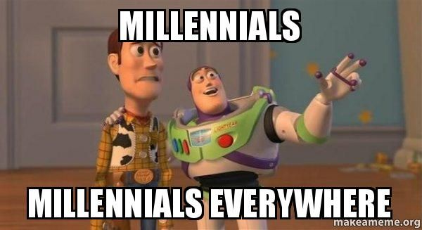 Buzz Lightyear meme saying Millennials Millennials Everywhere
