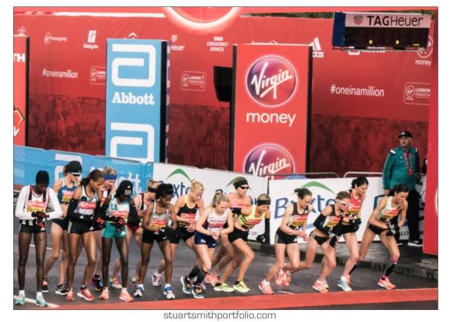 London Marathon Pictures - Elite Women's Race