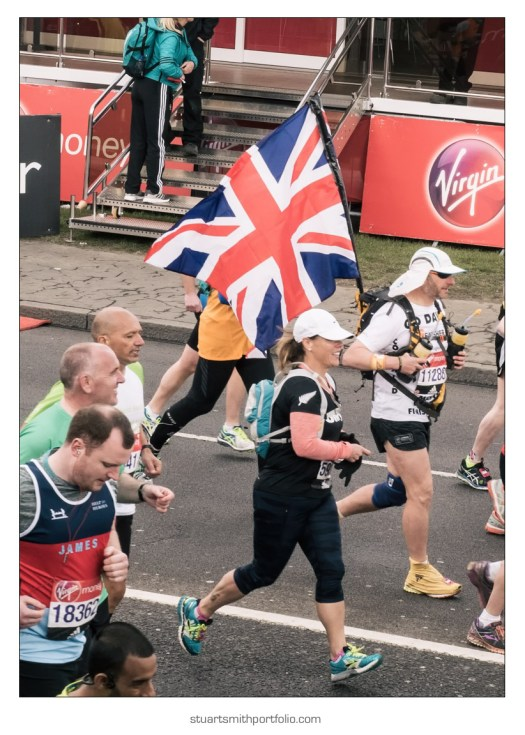 London Marathon Pictures - Runner with Union Flag