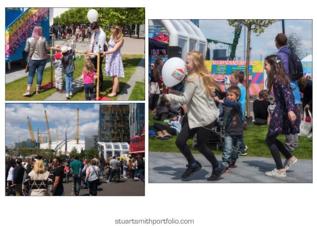 Different Scenes of the Public at the Urban Village Fete Festival
