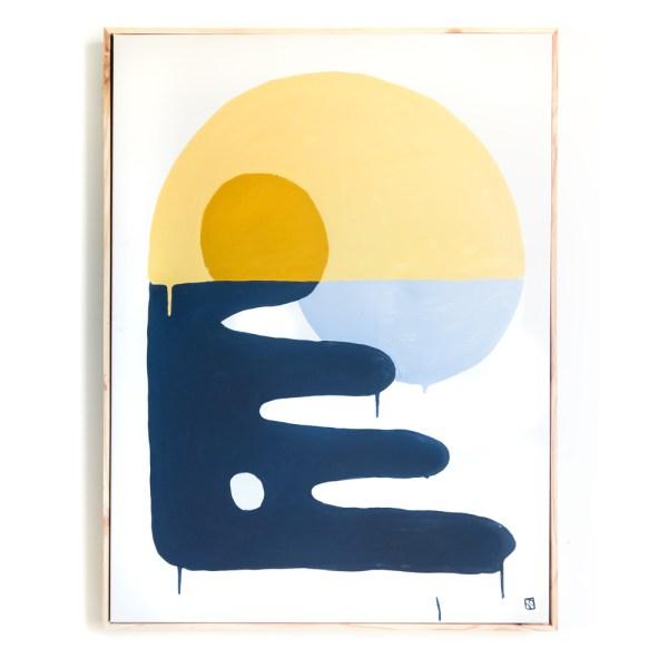 a-shore-way minimal art painting