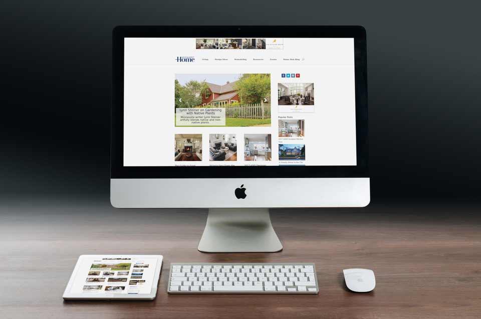 Midwest Home magazine homepage desktop screenshot