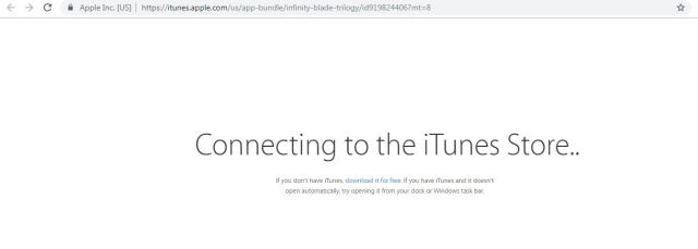 infinity blade removed from apple app store