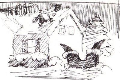 Strange Visitor Concept Sketch