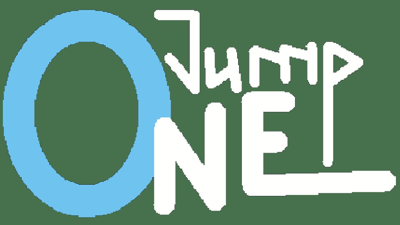 Logo von OneJump; Spiel von Felix T. Vogel