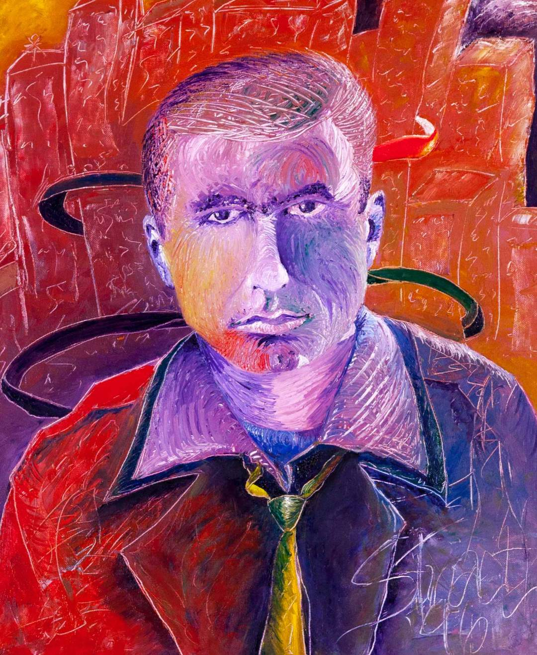 "Portrait of My Father: Oil on Canvas, 1997, Size: 24"" x 20"""