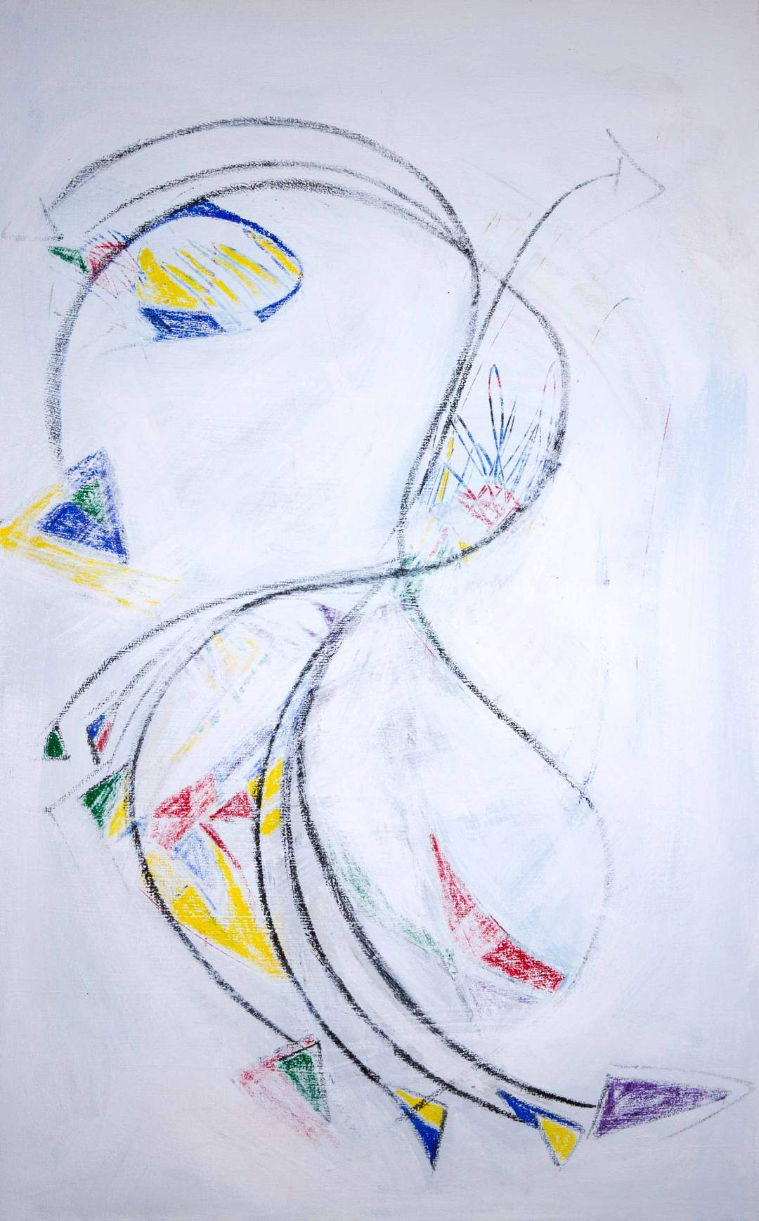 whirlYgYgs 5; graphite, acrylic, and oil on canvas with epoxy clear coat  2014