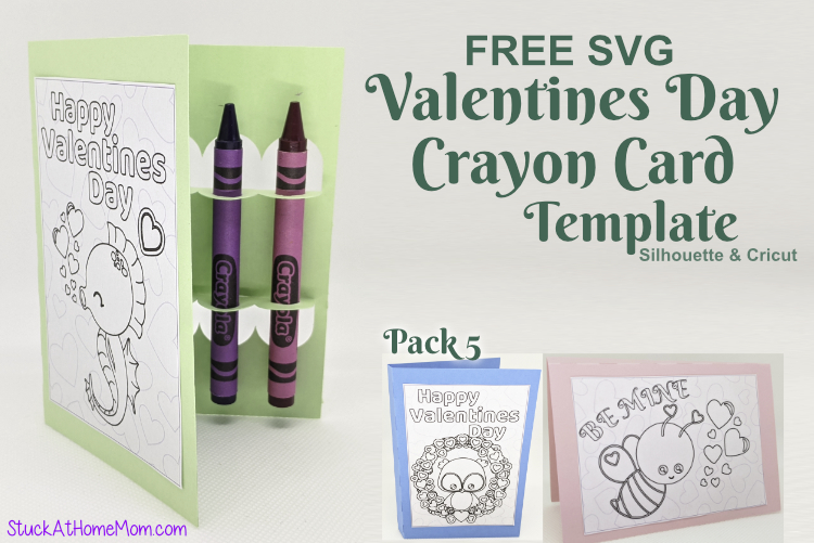 Download FREE SVG Valentines Day Crayon Card Template for ...