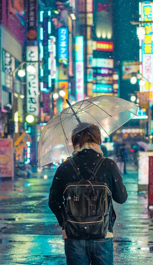 Rainy Evening in Tokyo