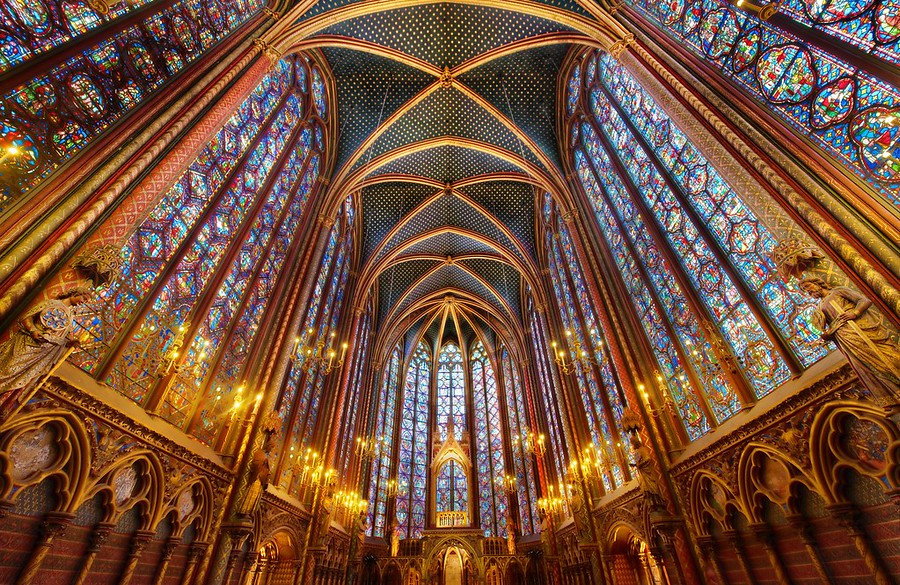 The LightLa Sainte-Chapelle is really an amazing place.  I can't believe it took me so many trips to Paris to finally see it.  It wasn't exactly a blind-spot, but I knew it was some place that I had to visit at some point, and I finally got there.Tripods were forbidden, so I decided to use a tripod to get a shot.  I did manage to squeeze off several rounds until security came up to make me stop.  Of course, the only reason I ignore their rule is because I think it is does not have a solid foundation in logic or rational thought.  I wasn't bothering anyone.  I wasn't going to trip anyone because of the configuration of my tripod and body.  Everything was cool.- Trey RatcliffRead more here at the Stuck in Customs blog.