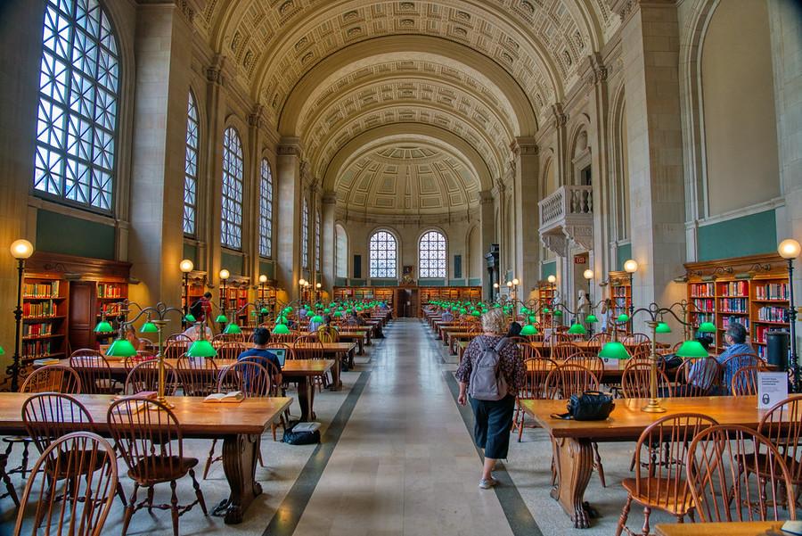 The Public Library in Boston