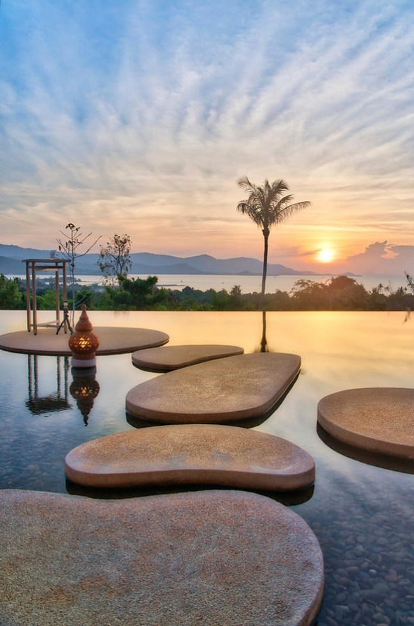 Stepping Stones to the Sunset in Koh Samui