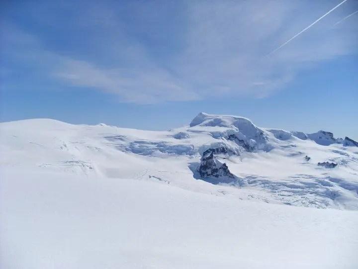 Mt. Hvannadalshnjukur, the highest peak in Iceland seen from the Hrutfjallstindar peaks