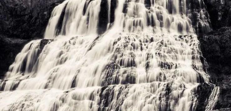 Dynjandi waterfall in the Westfjords