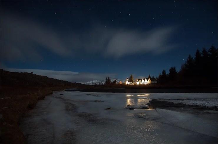 Thingvellir Church and the Prime Minister´s summerhouse.