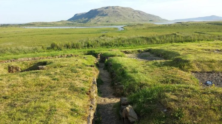 The Skálholt bishopric had a school which has been excavated. It´s remains are clearly visible from the church.