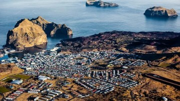 Visit Iceland and see the Westman islands.