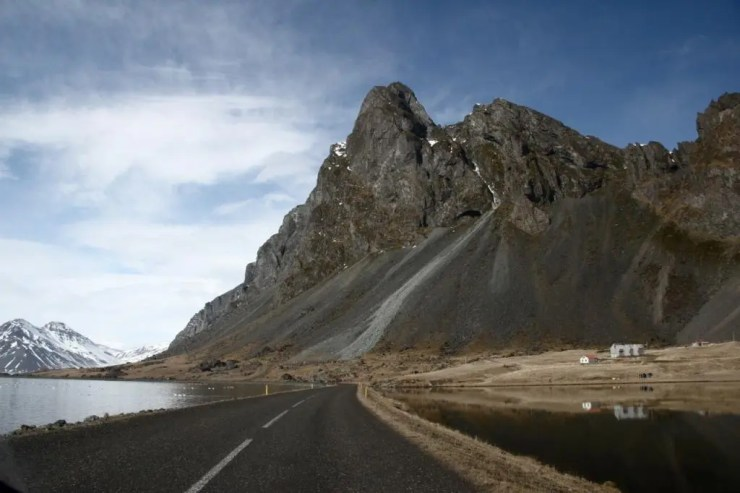 The impressive mountain of Eystrahorn in the South-East of Iceland in a region called Lón.