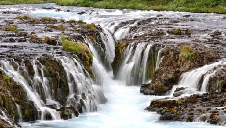 Bruarfoss. Feel the power of iceland's waterfalls!