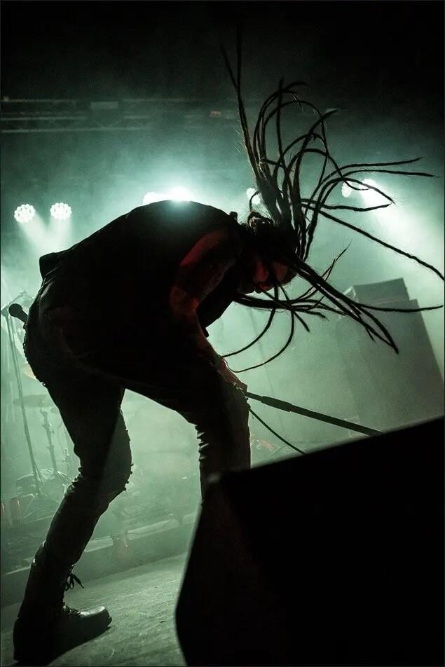 Metal hair.