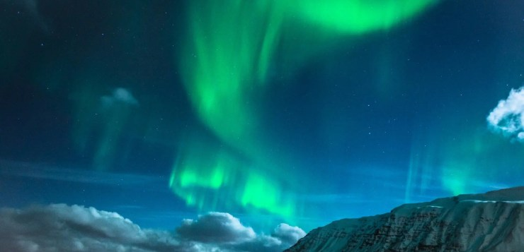 Northern lights over Iceland.