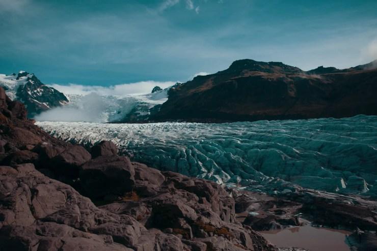 Crawling glacier.